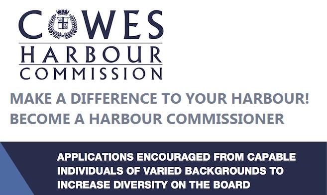 cowes harbour commission recruitment poster