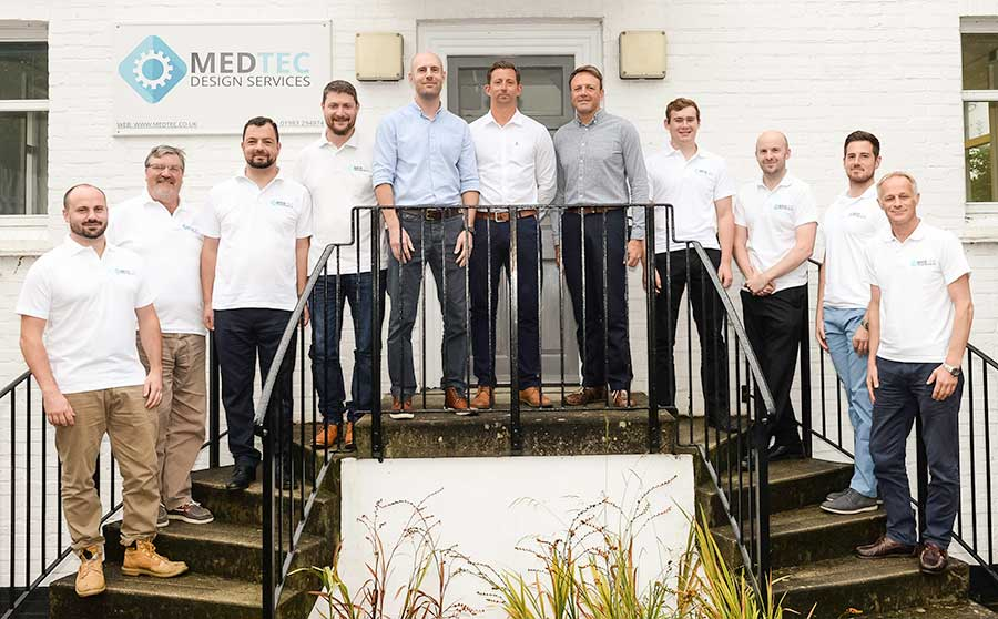 medtec design services east cowes staff group photo