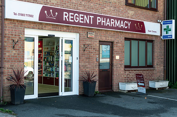 external view of regent pharmacy in east cowes