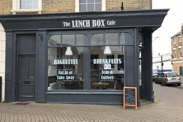 external view of the lunch box cafe east cowes