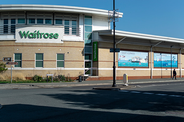 external view of waitrose supermarket in east cowes